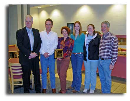 Legacy Farm Ltd Getting Employer of the month from Laurel Oaks