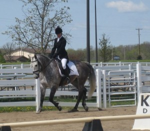 5th year boarder, Sarah Corwin and her KWPN gelding, Whimsey.