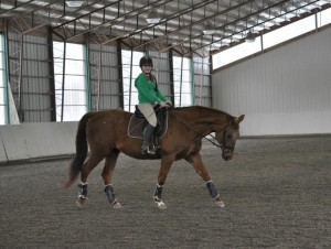 4th year boarder, Madison Bennett and her Oldenburg mare, Etania
